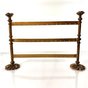 Decorative Antiqued Gold Earring Holder